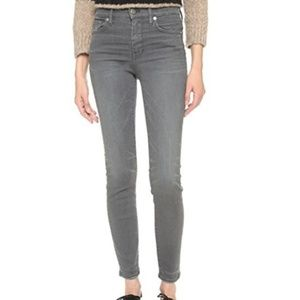 Madewell High-riser Skinny Jeans Dusty Gray 25